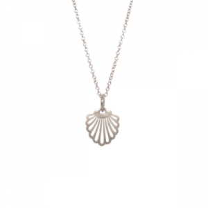 """Hummingbird Shell"" - Necklace - Silver"