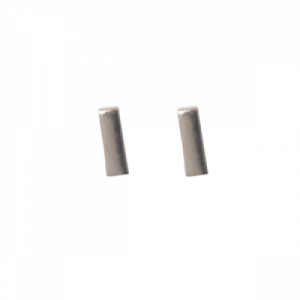 """Stripes & Joist"" Bar S - Stud Earring - Silver"