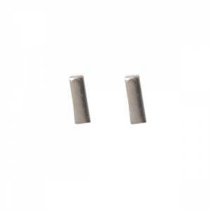 """""""Stripes & Joist"""" Bar S - Stud Earring - Silver"""