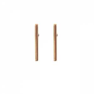 """Stripes & Joist"" Bar M - Stud Earring - Gold"