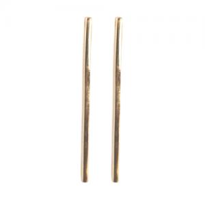 """Stripes & Joist"" Bar L - Stud Earring - Gold"
