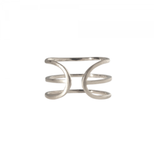 """Stripes & Joist"" Three Line - Ring - Silver"