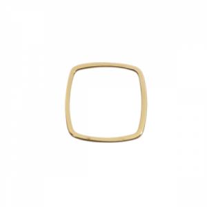 """Stripes & Joist"" Line Cube - Ring - Gold"