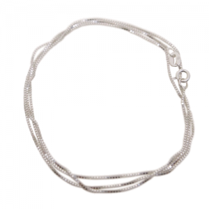 """Stripes & Joist"" Classic - Collier - Silver"