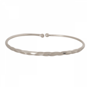 """Rocks"" Classic - Bangle - Silver"