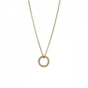 """Un-Deux-Trois"" Dot Circle - Necklace - Gold"