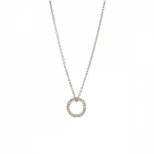 """Un-Deux-Trois"" Dot Circle - Necklace - Silver"