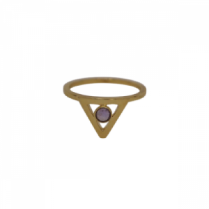 """Trinity"" Illuminati Amethyst - Ring - Gold"