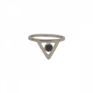 """Trinity"" Illuminati Spindel - Ring - Silver"