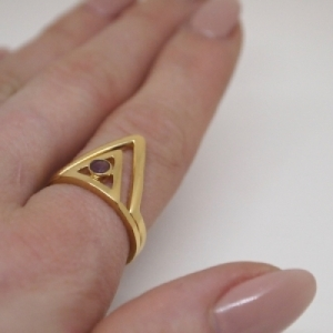 """Trinity"" Classic - Ring - Gold"
