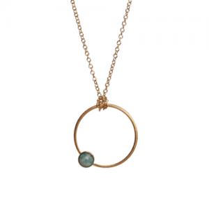 """Petit Point"" Amazonit - Necklace - Gold"