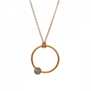 """Petit Point"" Aventurin - Necklace - Gold"