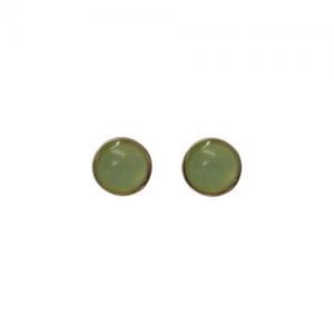 """Petit Point"" Chrysopras - Stud Earring - Gold"