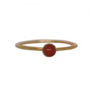 """Petit Point"" Coral Petit - Ring - Gold"