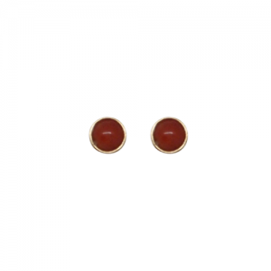 """Petit Point"" Coral Petit - Stud Earring - Gold"