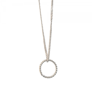 """Sophie"" One Circle - Necklace - Silver"