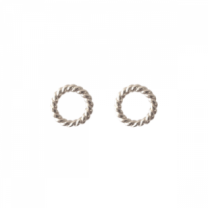 """Sophie"" Twist Circle - Stud Earring - Silver"