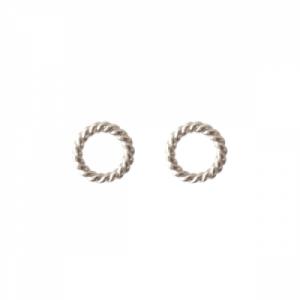 """Sophie"" Twist Circle - Stud Earring - Silver"