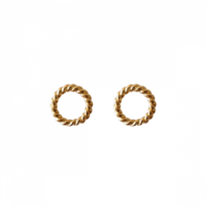 """Sophie"" Twist Circle - Stud Earring - Gold"