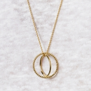 """Sophie"" Saturn - Necklace - Gold"