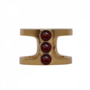 """Petit Point"" Garnet Orion - Ring - Gold"