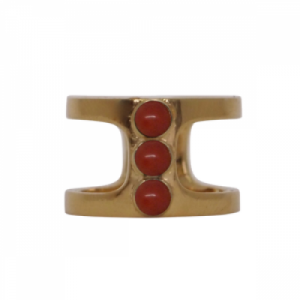 """Petit Point"" Coral Orion - Ring - Gold"