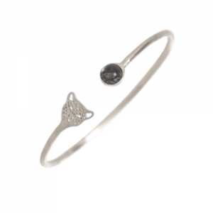 """Panthera"" Bristles & Head - Bangle - Silver"