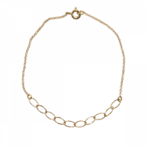 """Sophie"" Cable Ellipse - Bracelet - Gold"