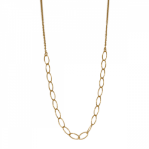 """Sophie"" Cable Ellipse - Collier - Gold"