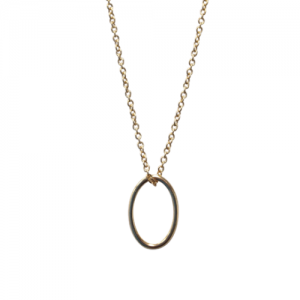 """Sophie"" Cable Ellipse S-L - Necklace - Gold"