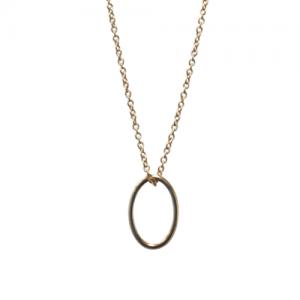"""""""Sophie"""" Cable Ellipse S-L - Necklace - Gold"""