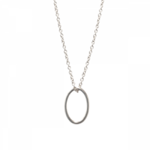 """Sophie"" Cable Ellipse S-L - Necklace - Silver"