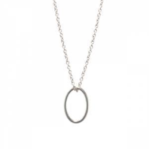 """""""Sophie"""" Cable Ellipse S-L - Necklace - Silver"""
