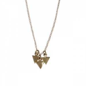 """""""Trinity"""" 3Arrow - Necklace - Gold"""