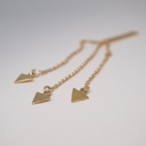 """Trinity"" Arrow - Earring - Gold"