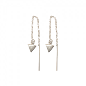 """Trinity"" Arrow - Earring - Silver"