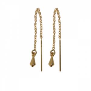 """Cleometra"" Pendulum - Earring - Gold"