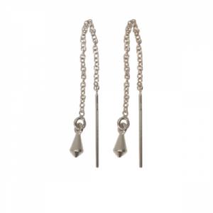 """Cleometra"" Pendulum - Earring - Silver"