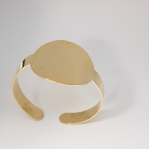 """Paillette"" Big - Bangle - Gold"