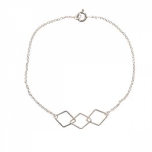 """""""Opalia"""" Rhombus - Bracelet - Silver"""