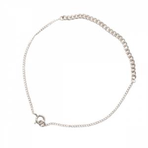 """Curb"" Long - Bracelet - Silver"