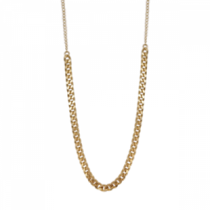 """Curb"" Long - Collier - Gold"