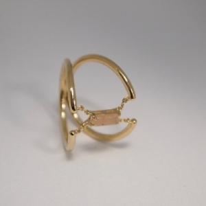"""Baguette"" Peach Moonstone Trapeze - Ring - 18 Karat Gold"