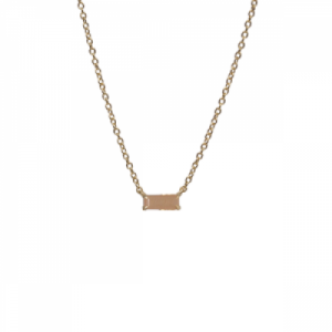 """Baguette"" Peach Moonstone One - Necklace - 18 Karat Gold"
