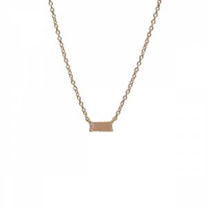 """Baguette"" Peach Moonstone One - Necklace - 18 Karat Gold"