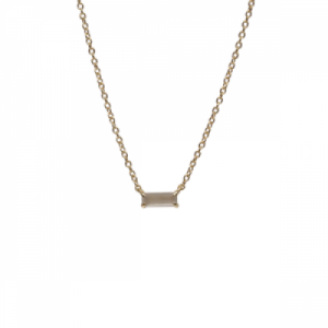 """Baguette"" Paper Moonstone One - Necklace - 18 Karat Gold"