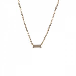"""Baguette"" Paper Moonstone One - Necklace - 18 Karat Gold"