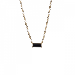 """Baguette"" Black Onyx One - Necklace - 18 Karat Gold"