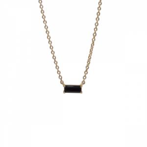 """Baguette"" Black Onyx One - Necklace - 18 Karat Gold"