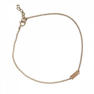 """Baguette"" Peach Moonstone One - Bracelet - 18 Karat Gold"